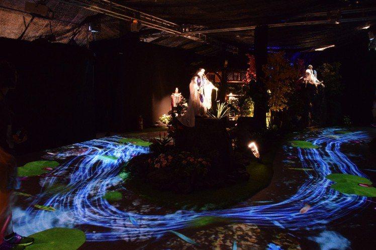 「霹靂藝術科幻特展」的琉璃仙境展區。圖╱霹靂國際多媒體提供