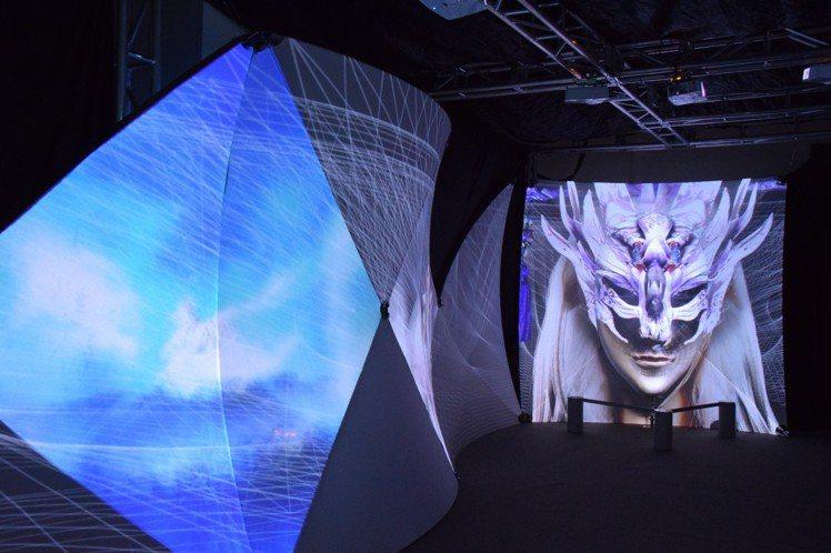 「霹靂藝術科幻特展」的天宙之間展區。圖╱霹靂國際多媒體提供