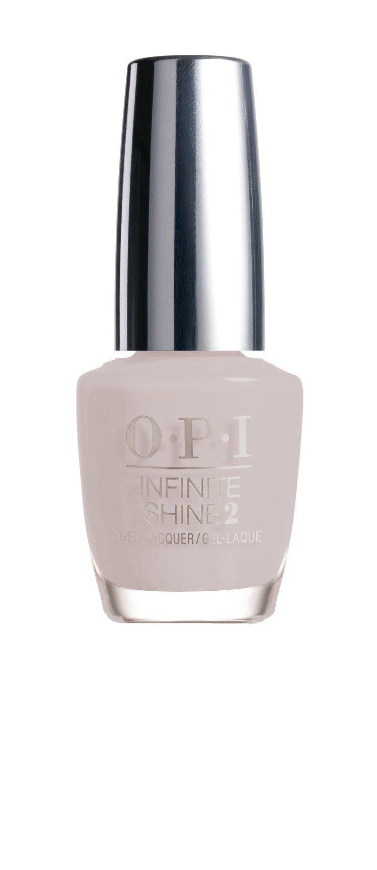 OPI如膠似漆類光繚指彩ISL75「自我風格」是港灣迷霧灰色,售價680元。圖/...