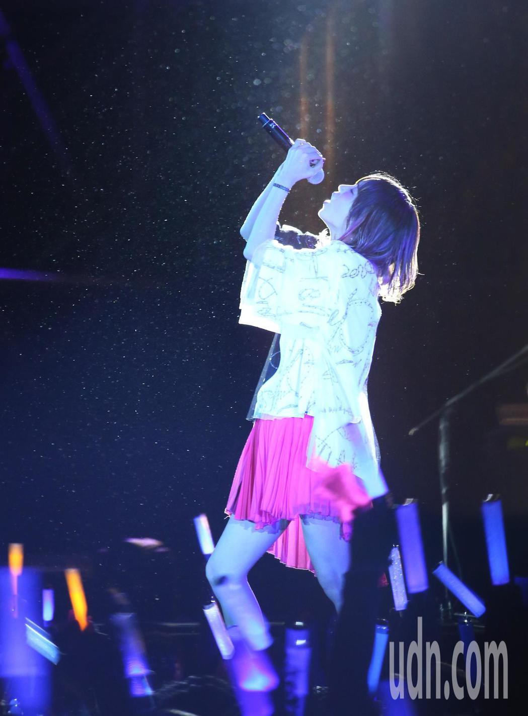 日本搖滾精靈LiSA晚間在新莊舉辦演唱會。記者林澔一/攝影