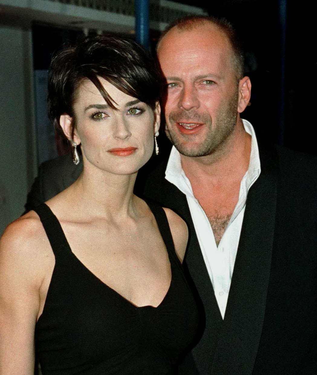 布魯斯威利與黛咪摩兒曾是好萊塢巨星夫妻檔。圖/路透資料照片