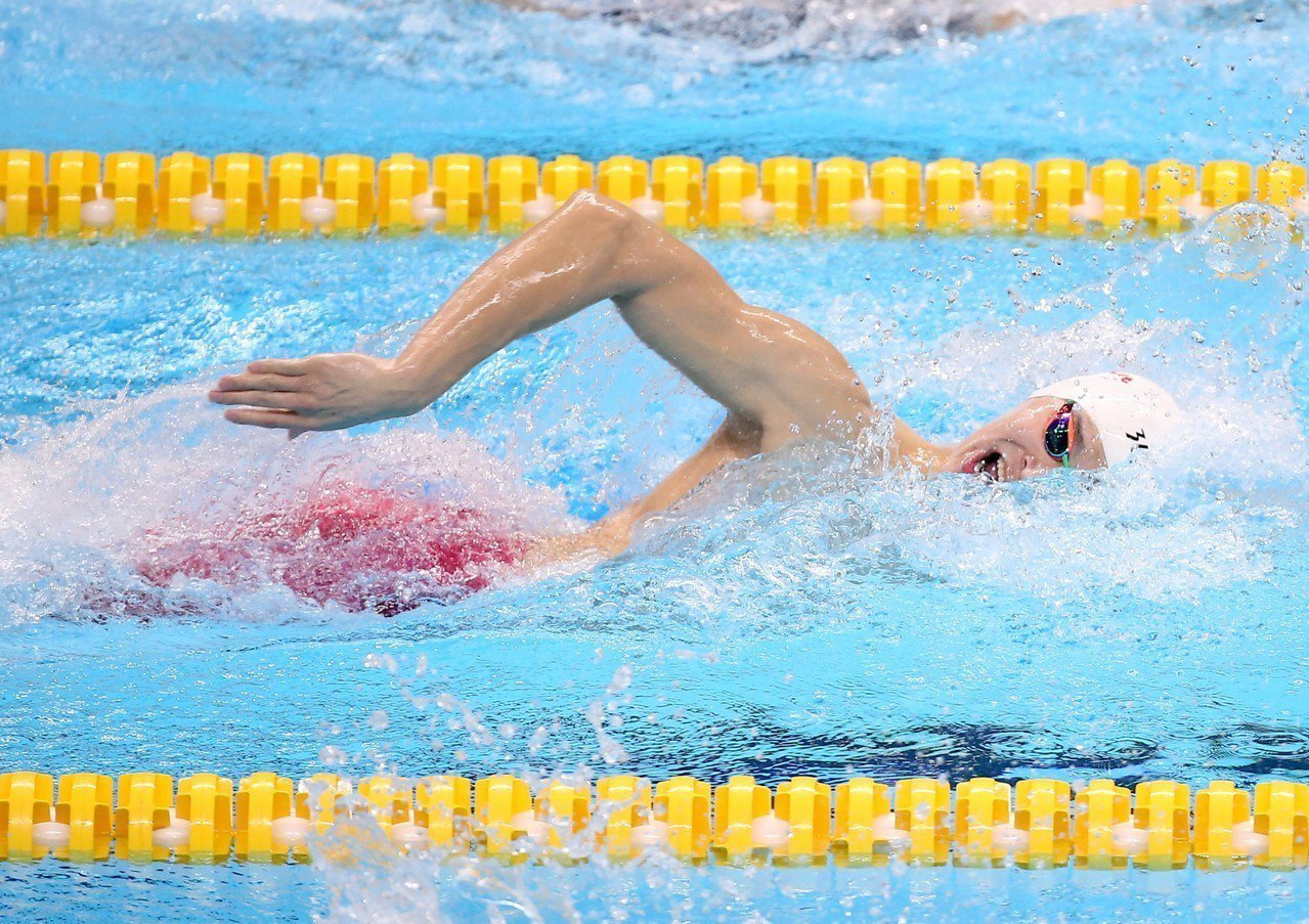 孫楊是男子200公尺自由式決賽最大焦點。特派記者余承翰/雅加達攝影