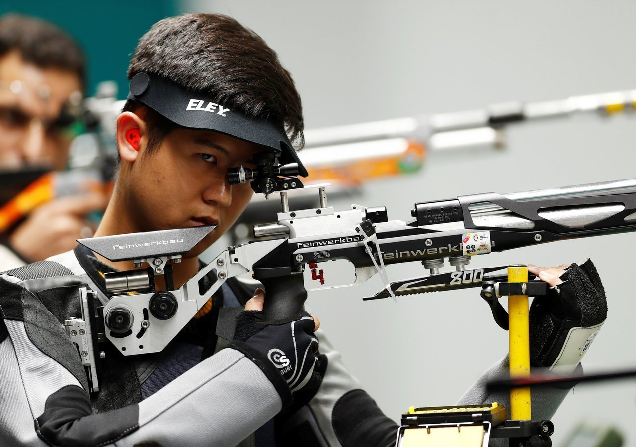 呂紹全獲得射擊男子10m空氣步槍銅牌。 路透