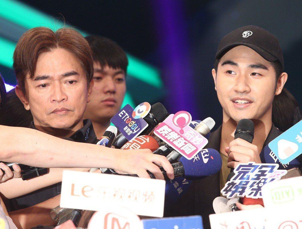 綜藝天王吳宗憲(左)與19歲兒子吳睿軒(藝名鹿希派)(右)。記者蘇健忠/攝影