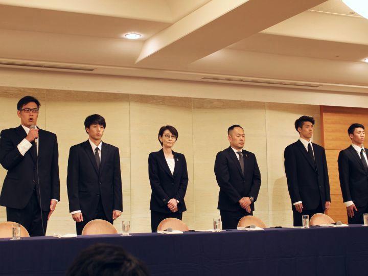 日本籃球協會召開緊急記者會,亞運期間買春的4名日本籃球員謝罪道歉。 擷自Bask...