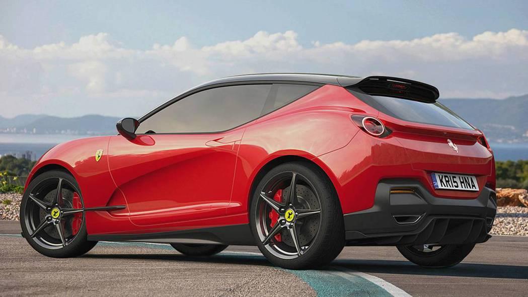若Ferrari真做出掀背車,或許有另一種風情。 摘自Motor1