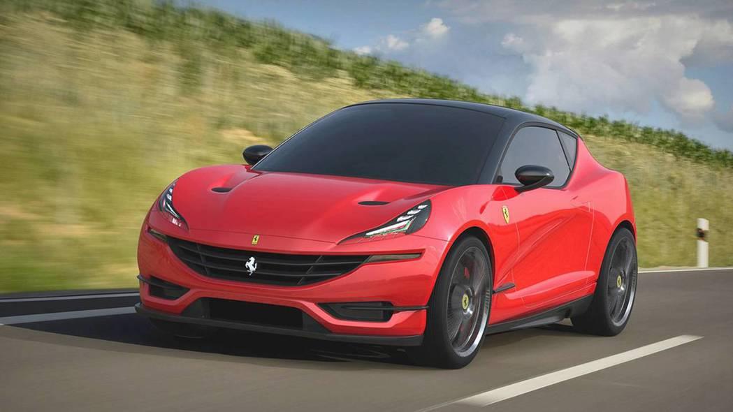 Ferrari hatchback的前臉使用了812 Superfast的元素。 摘自Motor1