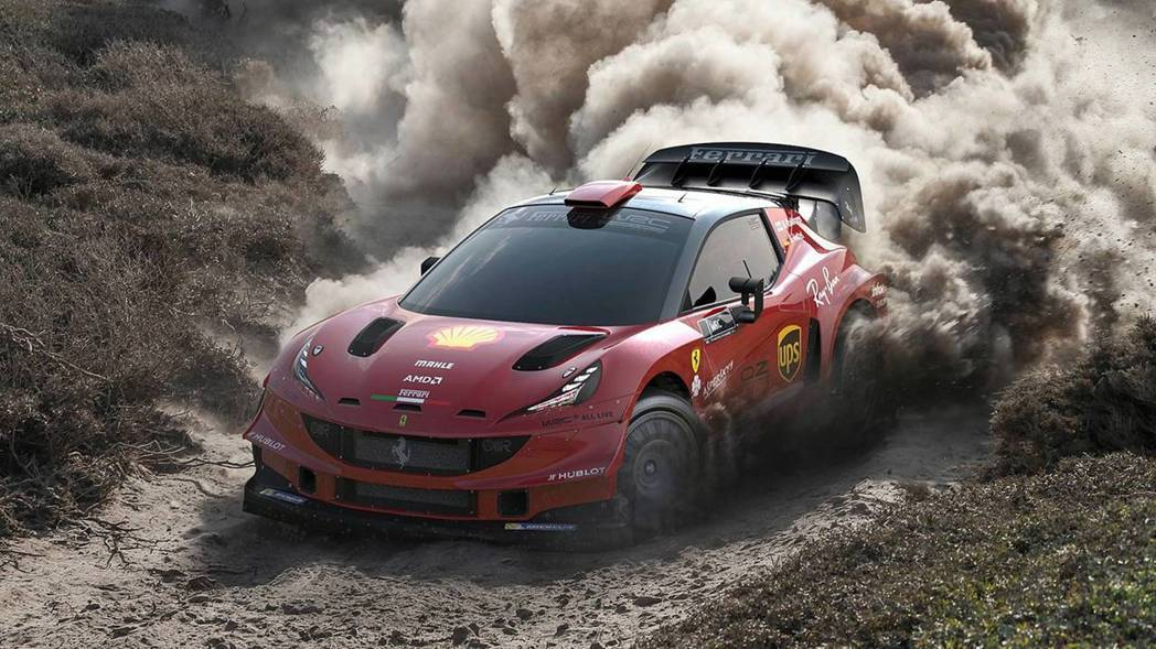 WRC版本的Ferrari hatchback看起來也是相當剽悍呢。 摘自Motor1