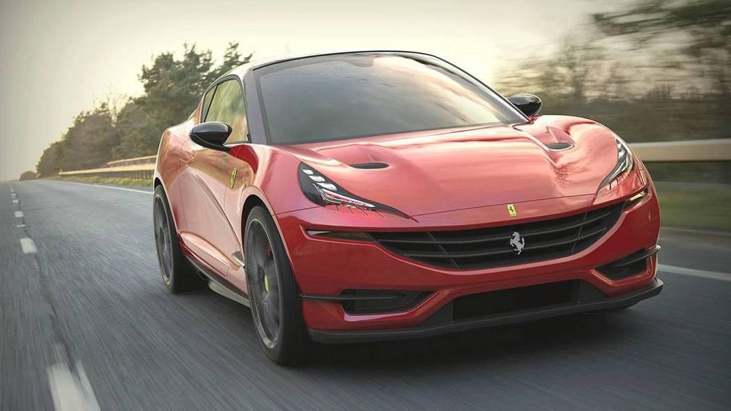 Ferrari hatchback預想圖。 摘自Motor1