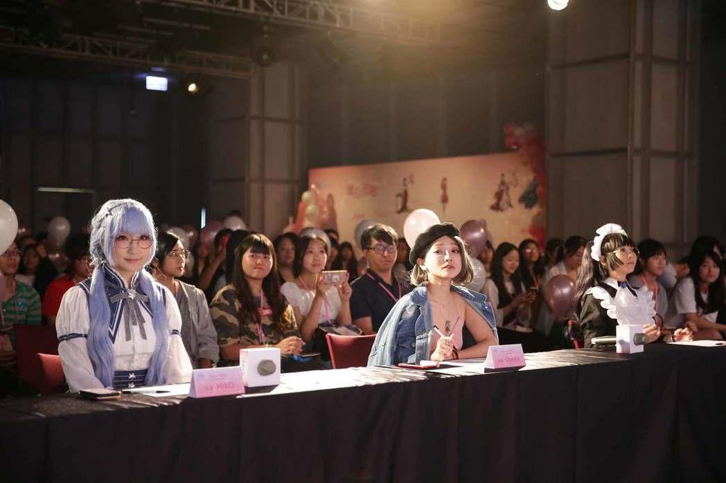 知名Coser HIKO、小都和DenKa受邀擔任評審。