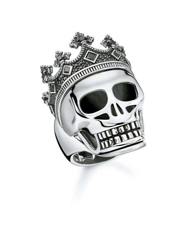 純銀皇家骷髏戒指,18,800元。圖/THOMAS SABO提供