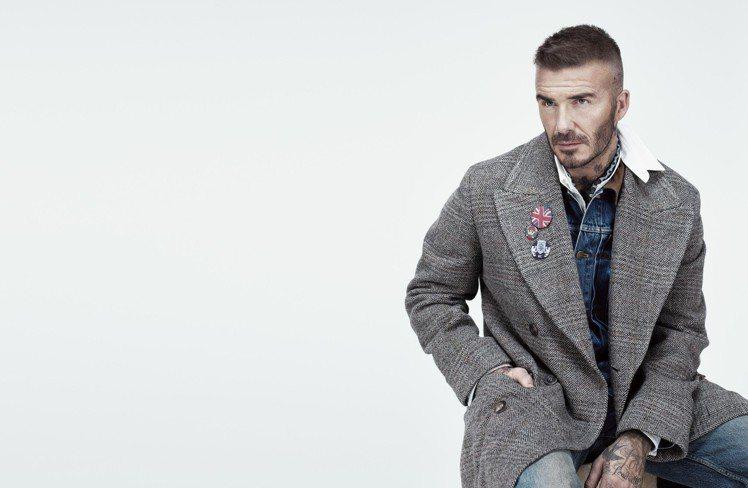 大衛貝克漢親自詮釋Kent & Curwen 2018全新秋冬形象廣告。圖/Ke...