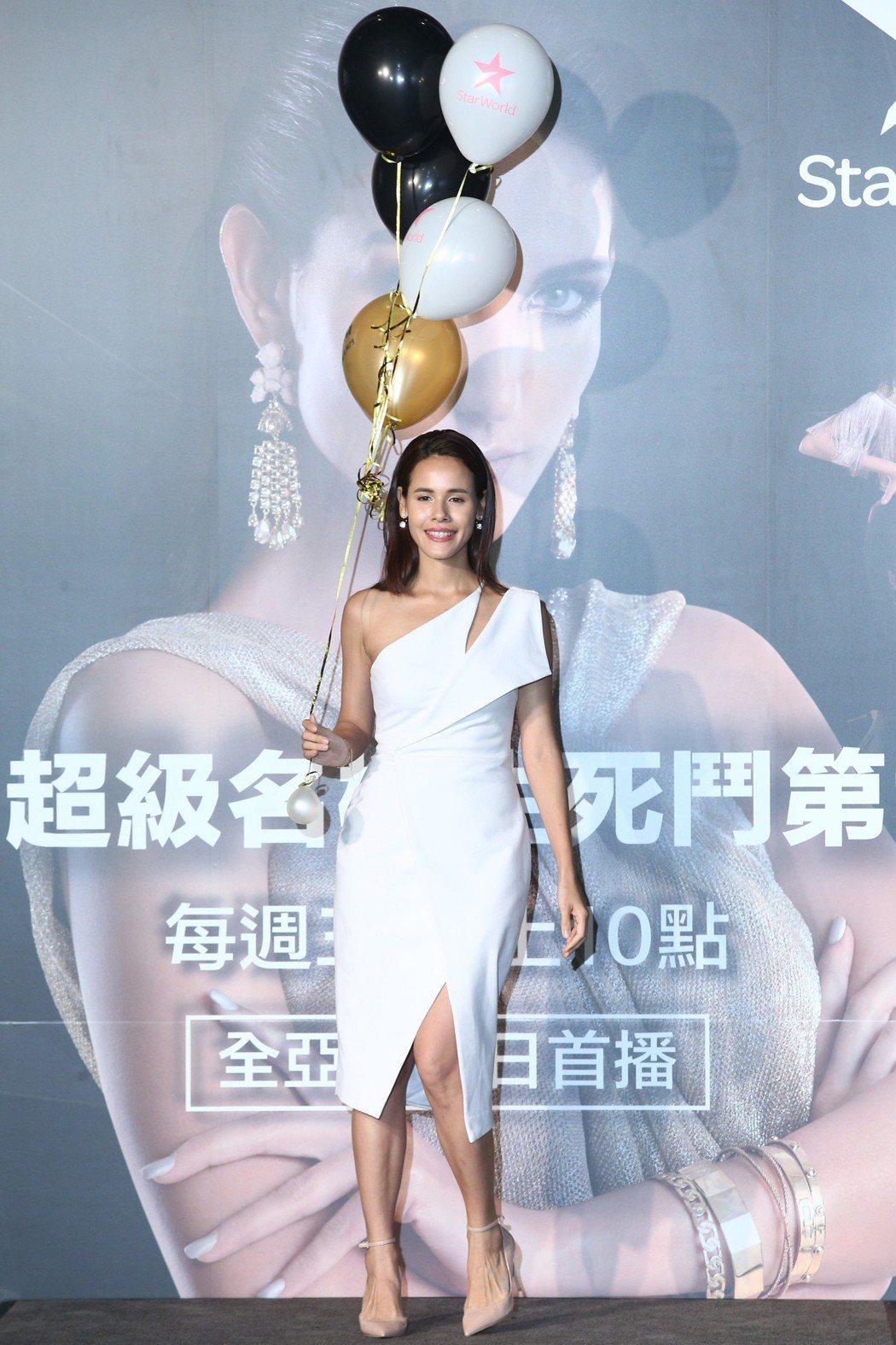第二季娜塔莉下午出席Star World「亞洲超級名模生死鬥」最新第六季記者會,...