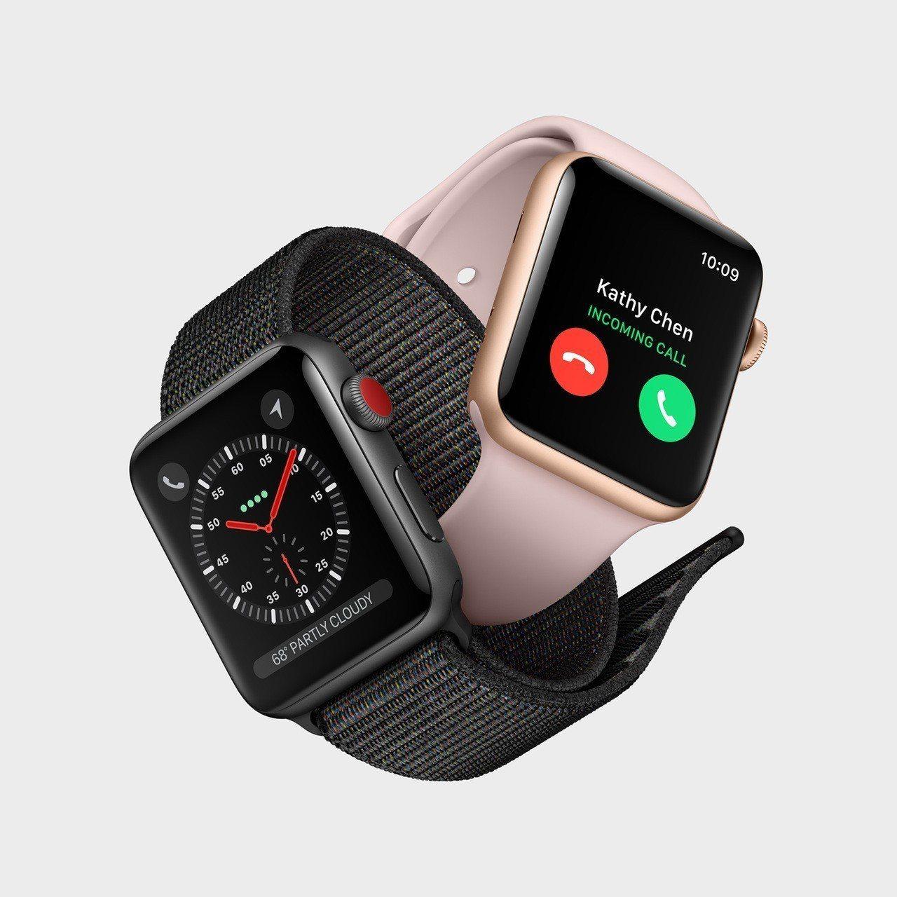 圖為Apple Watch Series 3 LTE。 圖/摘自蘋果官網