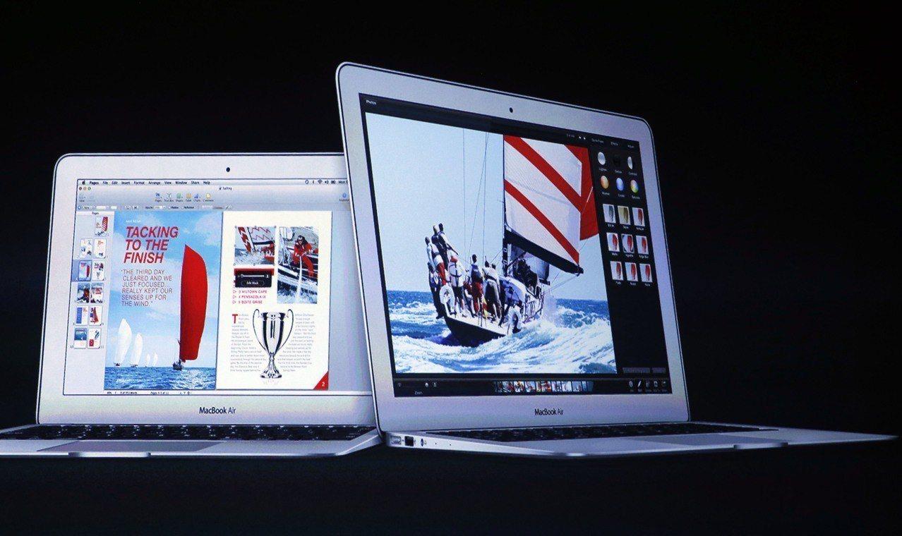 圖為MacBook Air。 歐新社資料照