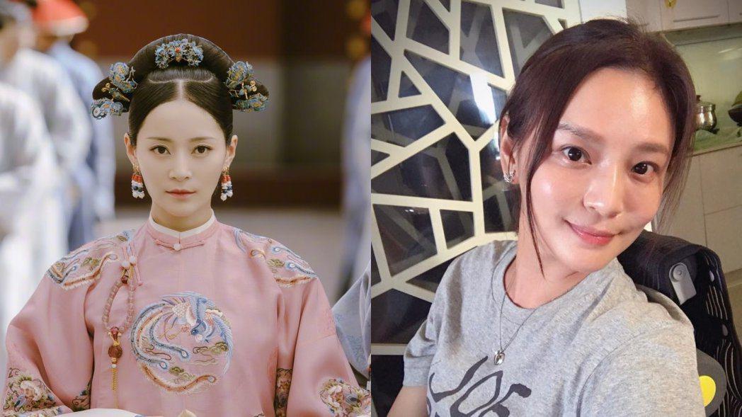 《延禧攻略》的純妃(左)與梁家榕(右)非常神似。 圖/摘自微博、臉書