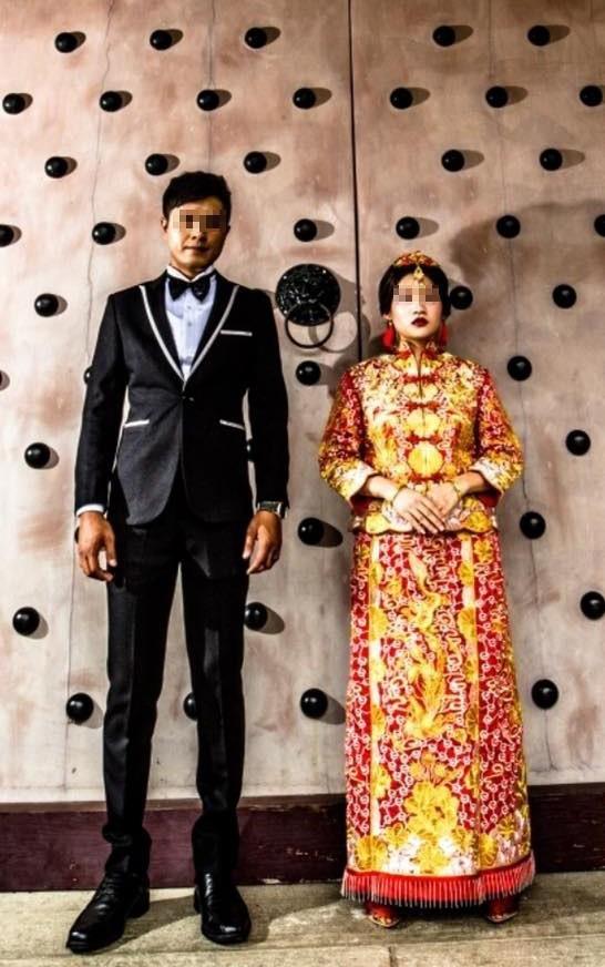 這種風格的婚紗照,你能接受嗎? 圖擷自臉書社團「爆怨公社」