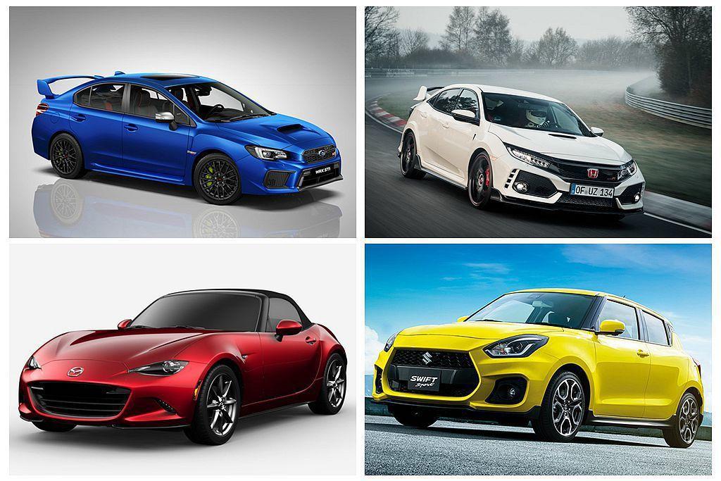 日系熱銷性能車,各暢銷車色皆有不同。 圖/各車廠提供