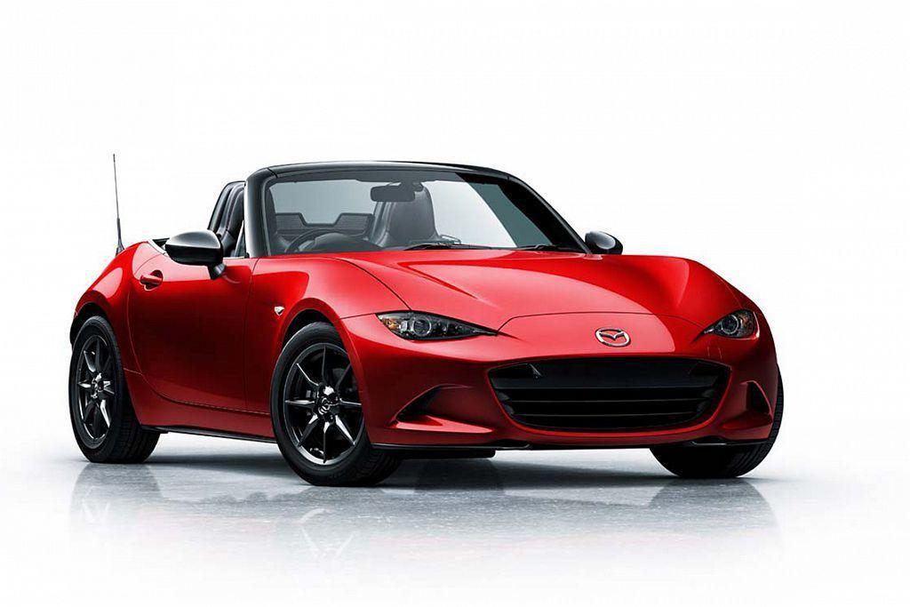 魂動紅(Soul Red)不僅是Mazda汽車的主打色,也影響雙門小跑車MX-5的車色銷售比例。 圖/Mazda提供