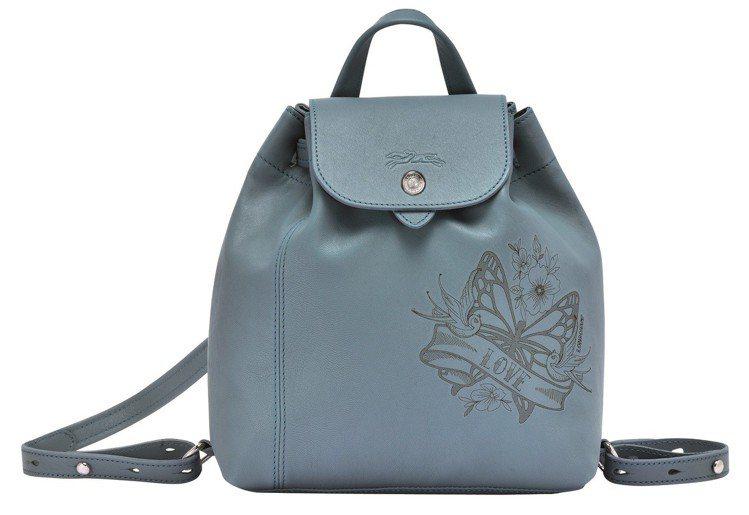 Le Pliage Cuir系列後背包,18,900元。圖/Longchamp ...