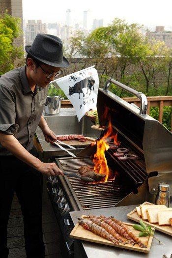 燒肉管家到府辦中秋派對。圖/樂軒和牛專門店提供