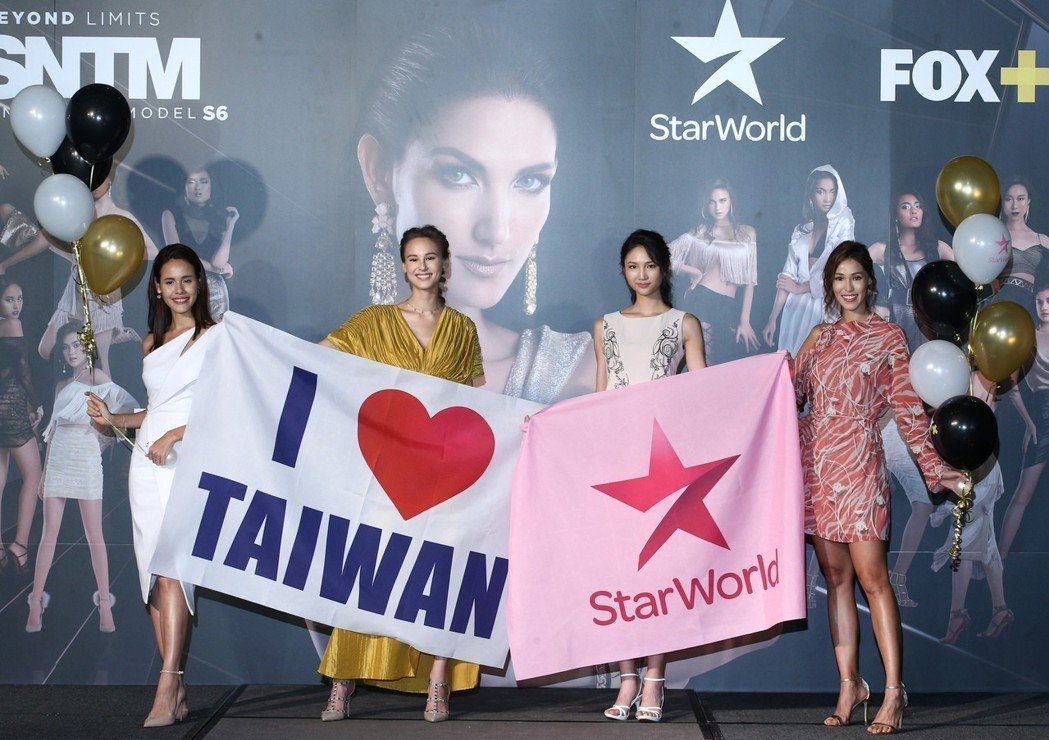 歷屆參加「亞洲超級名模生死鬥」的代表娜塔莉(左起)、白彌兒、陳詠芯與Akemi一...