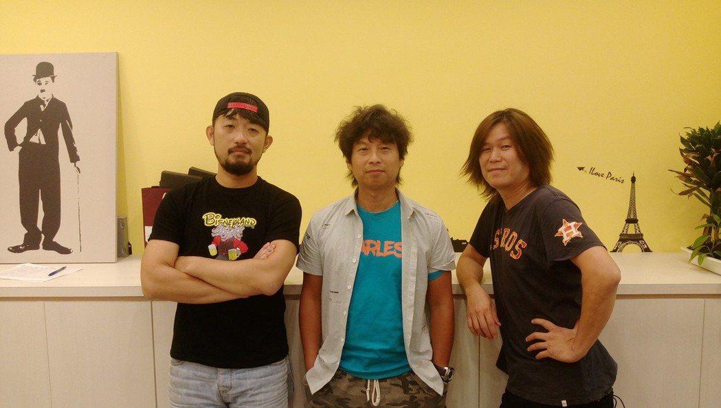吉董(右起)、虎神、阿強跨越組合組成新團。圖/新視紀整合行銷提供