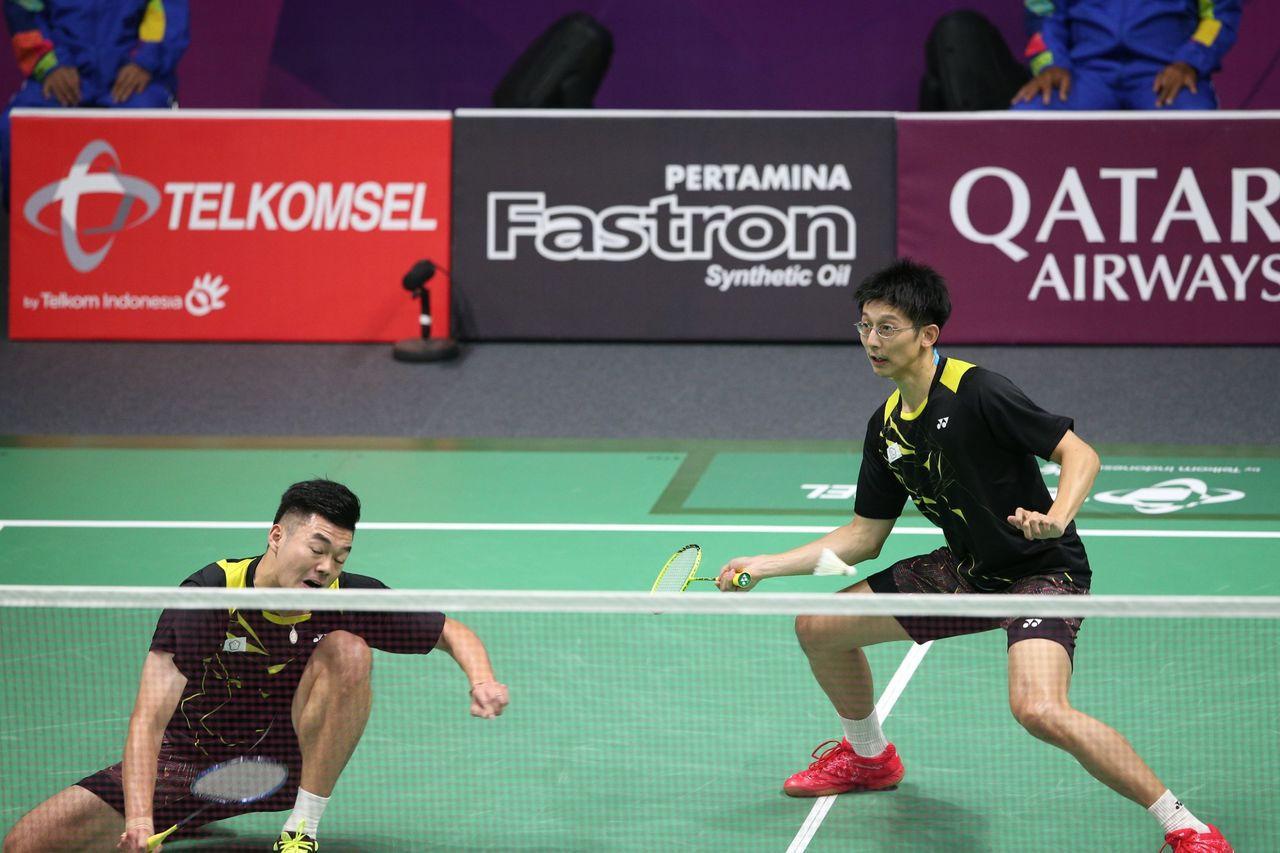 我國組合「雙麟配」陳宏麟/王齊麟挺進日本羽球公開賽四強。 聯合報系資料照