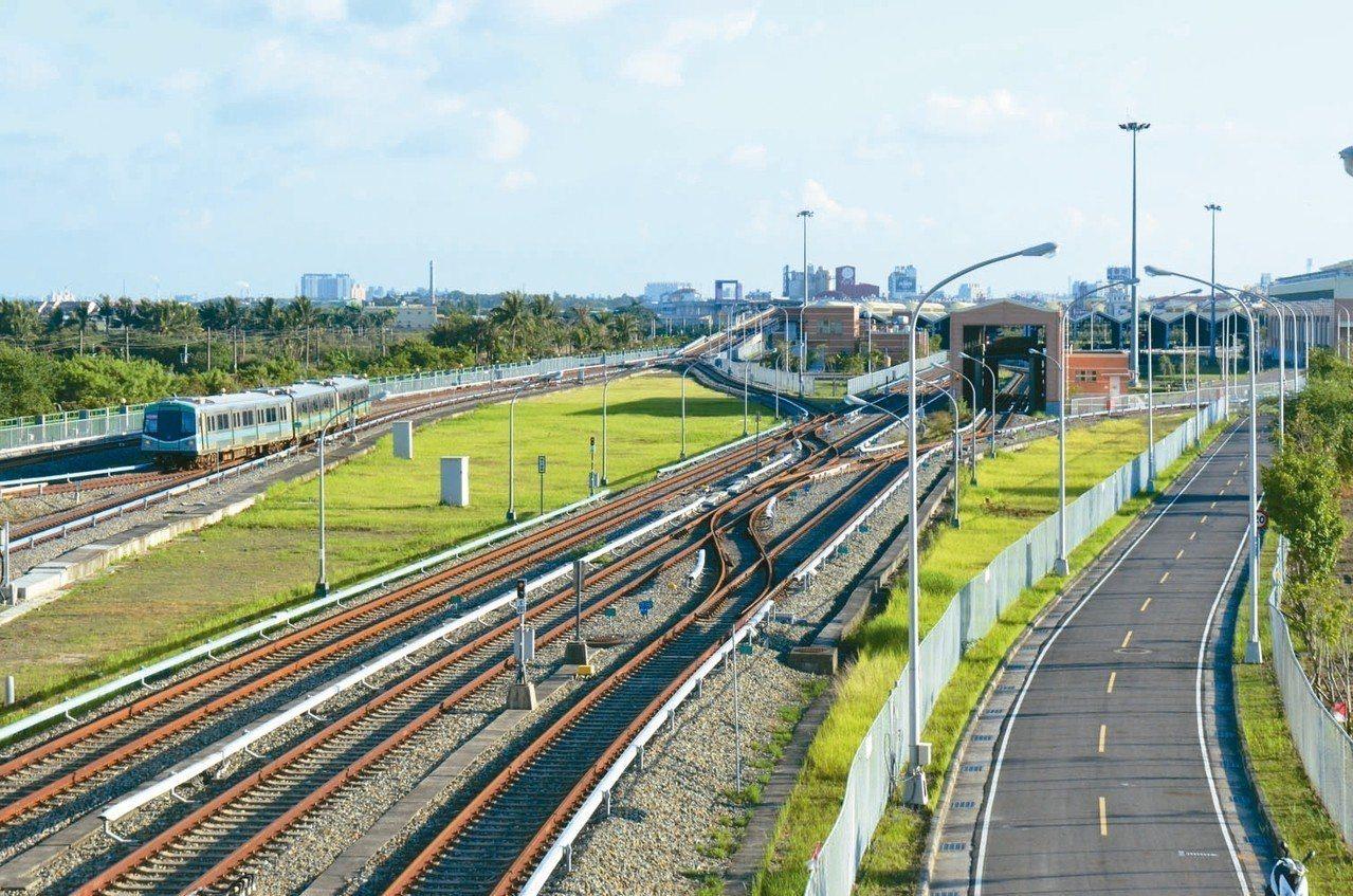 高雄捷運岡山路竹延伸線第一階段將從現有捷運紅線南岡山站延伸到新的岡山站,再從第二...