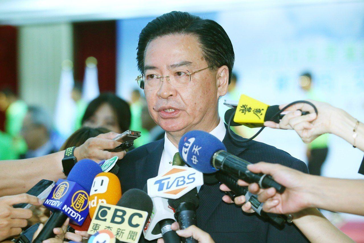 史瓦帝尼傳將與對岸建交,外交部長吳釗燮表示這是假議題。記者曾學仁/攝影