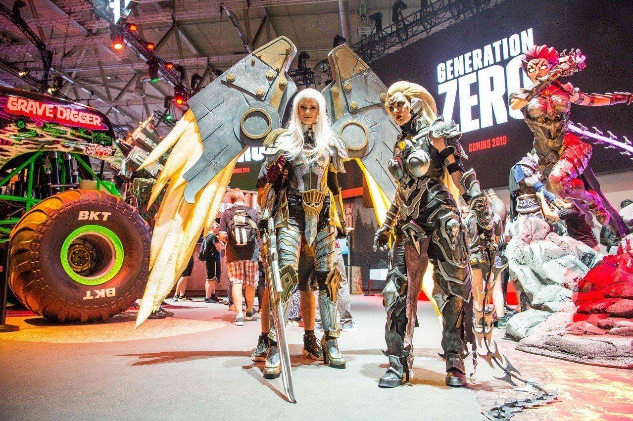 德國科隆遊戲展今天起至25日對民眾開放。 法新社