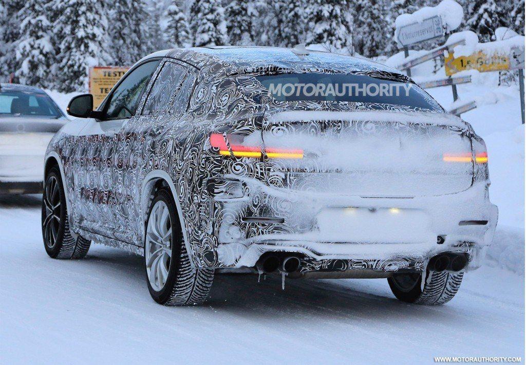 全新BMW X4 M偽裝測試照。 摘自Motorauthority
