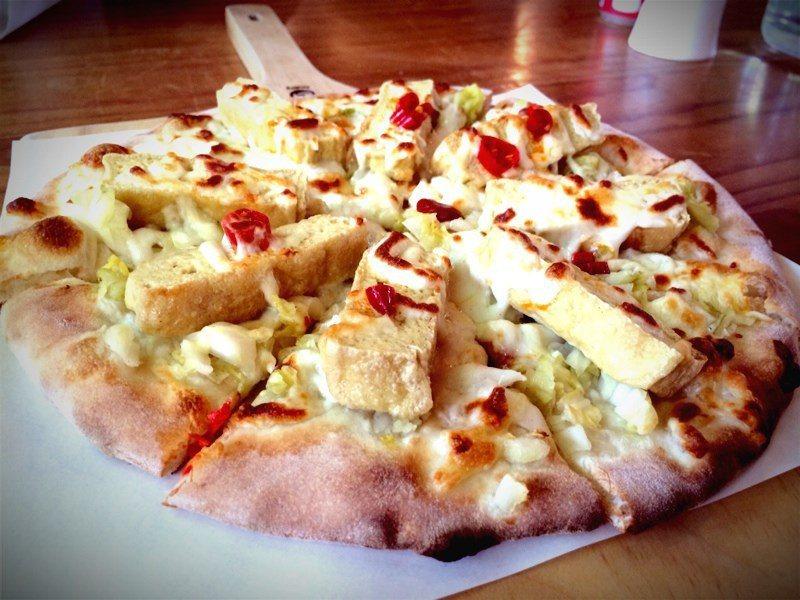 泡菜臭豆腐披薩。 圖片來源/openrice開飯喇