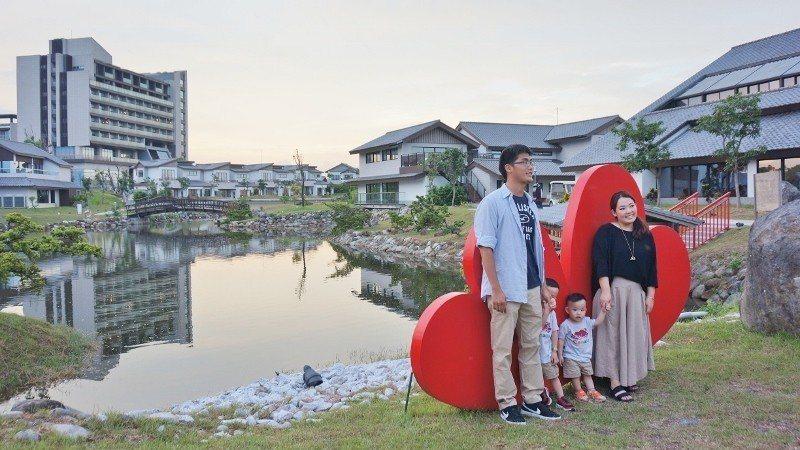 日式莊園湖邊的拍照打卡景點。 徐谷楨/攝影