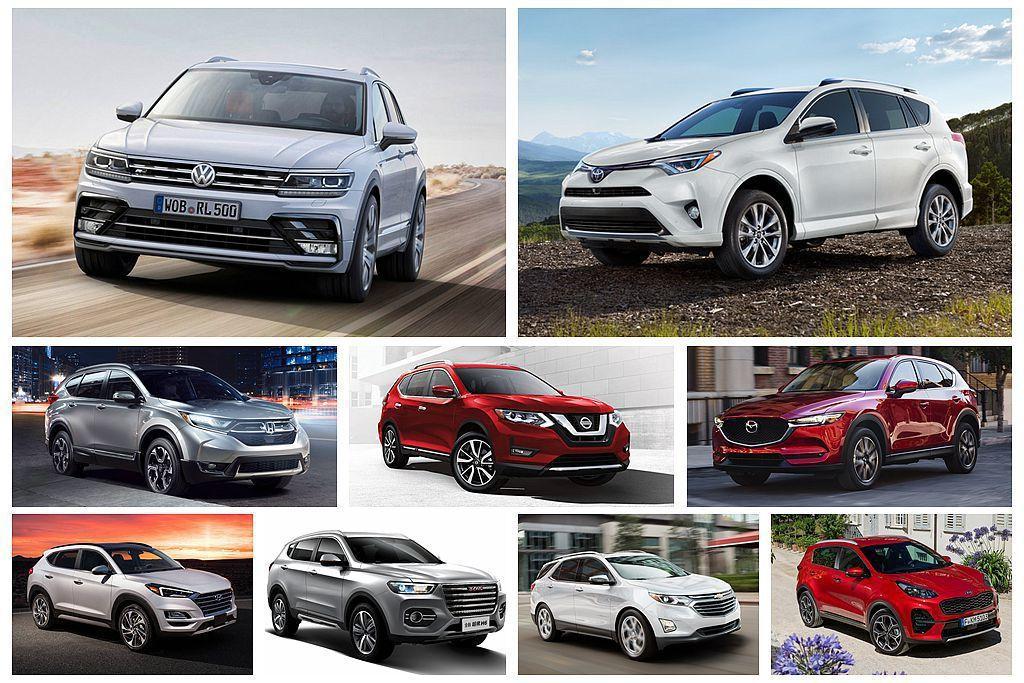 從GAD的上半年全球暢銷車單中,挑選出10款賣最多的休旅車來分析比較。 圖/各車...