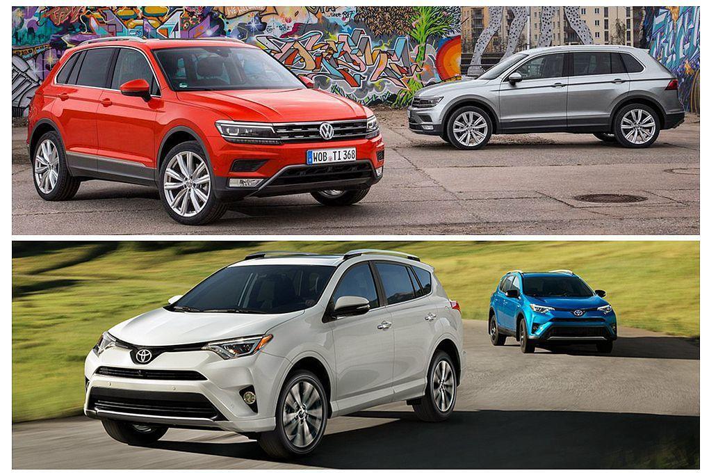 上半年全球休旅10強出爐!福斯Tiguan將威脅Toyota RAV4暢銷地位