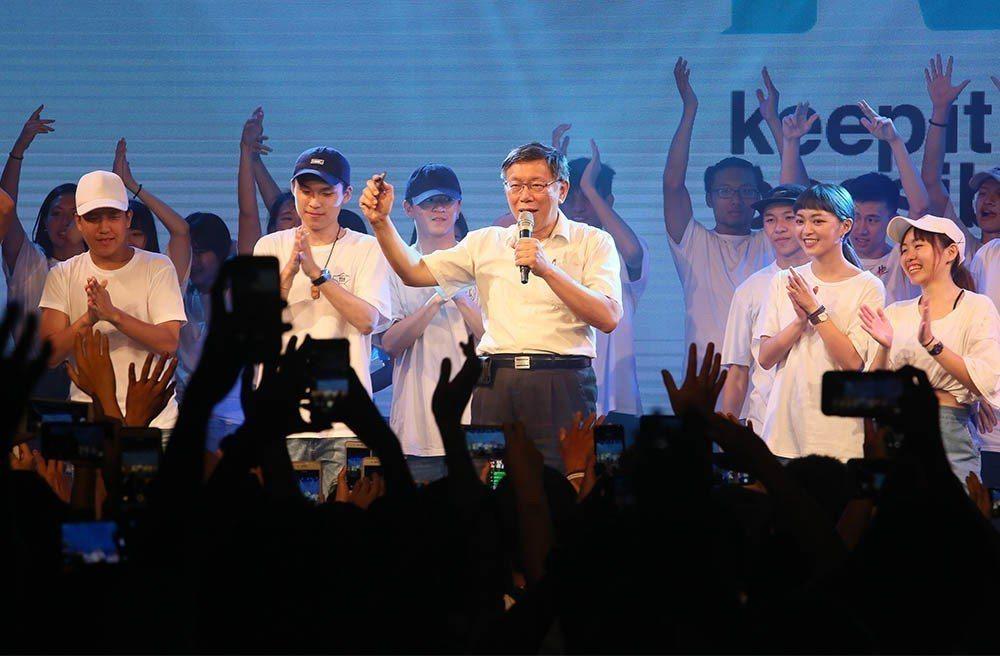 根據本刊民調,柯文哲獲得年輕人的支持已經跨出台北市。 攝影/柯承惠