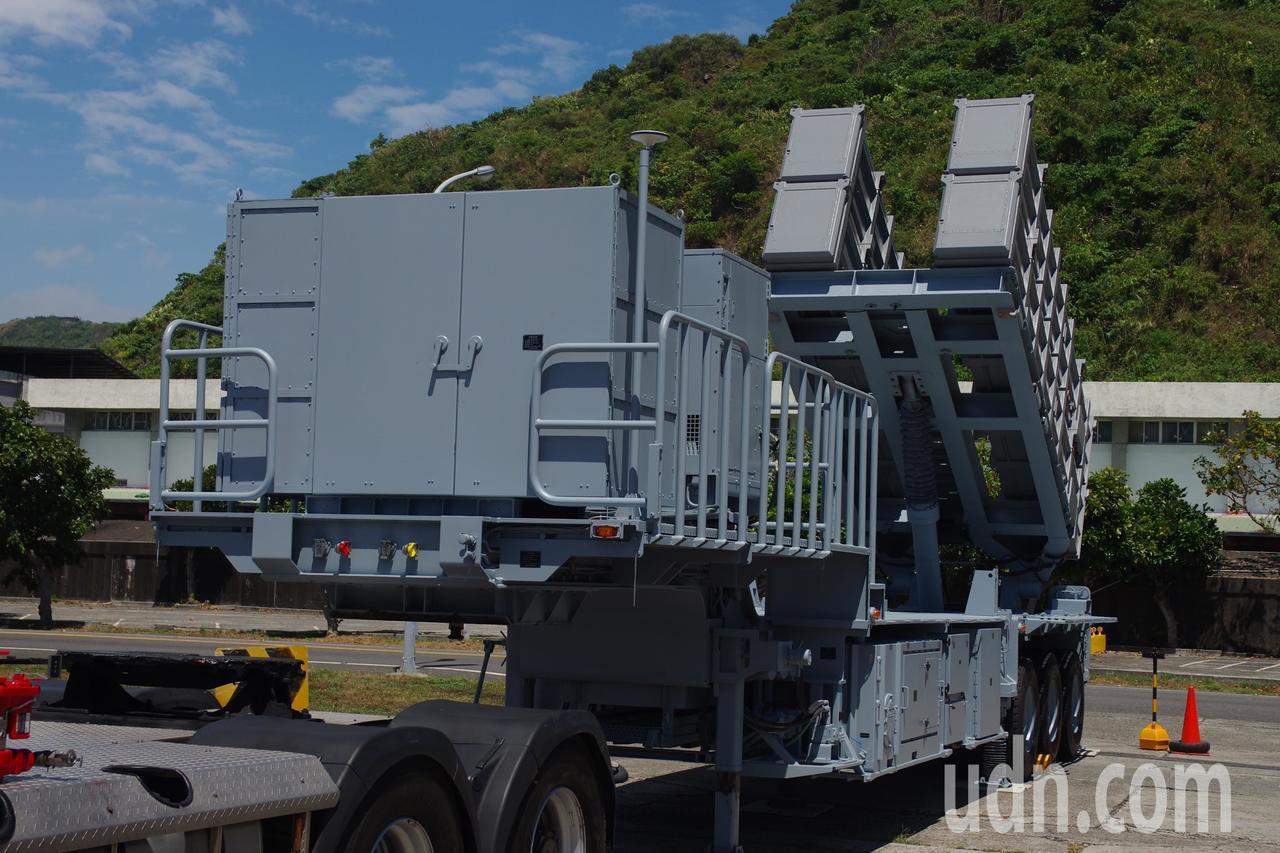 海軍海鋒大隊的雄二飛彈發射車。記者程嘉文/攝影
