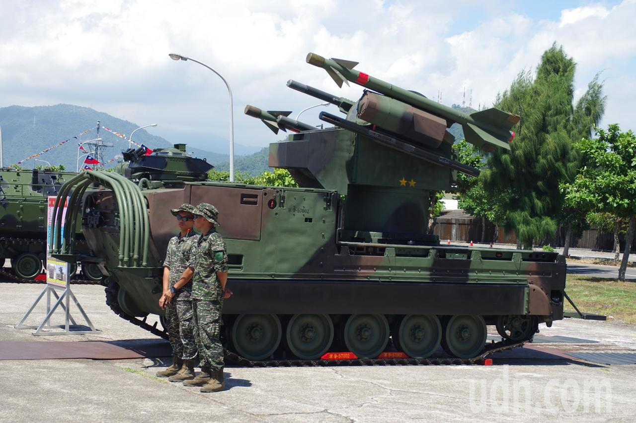 海軍陸戰隊檞樹飛彈發射車。記者程嘉文/攝影