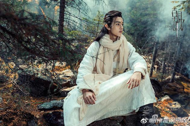 「延禧攻略」中的富察傅恆扮演者許凱參與「朝歌」演出。圖/摘自微博