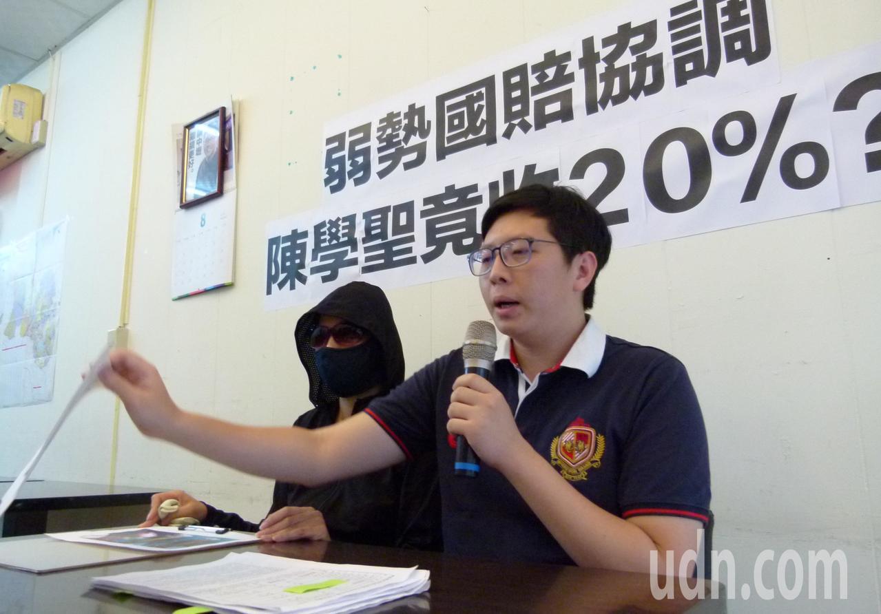 王浩宇要求陳學聖開除何女並公開道歉。記者鄭國樑/攝影