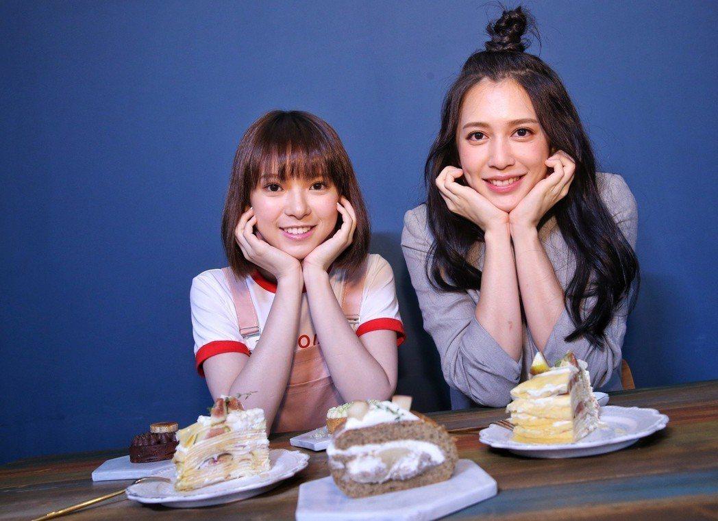 項婕如(左)和劉奕兒都是大胃王。記者鄭清元/攝影