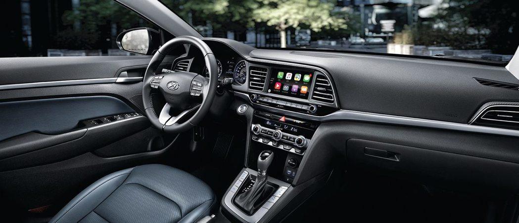 小改款Hyundai Elantra內裝。 摘自Hyundai