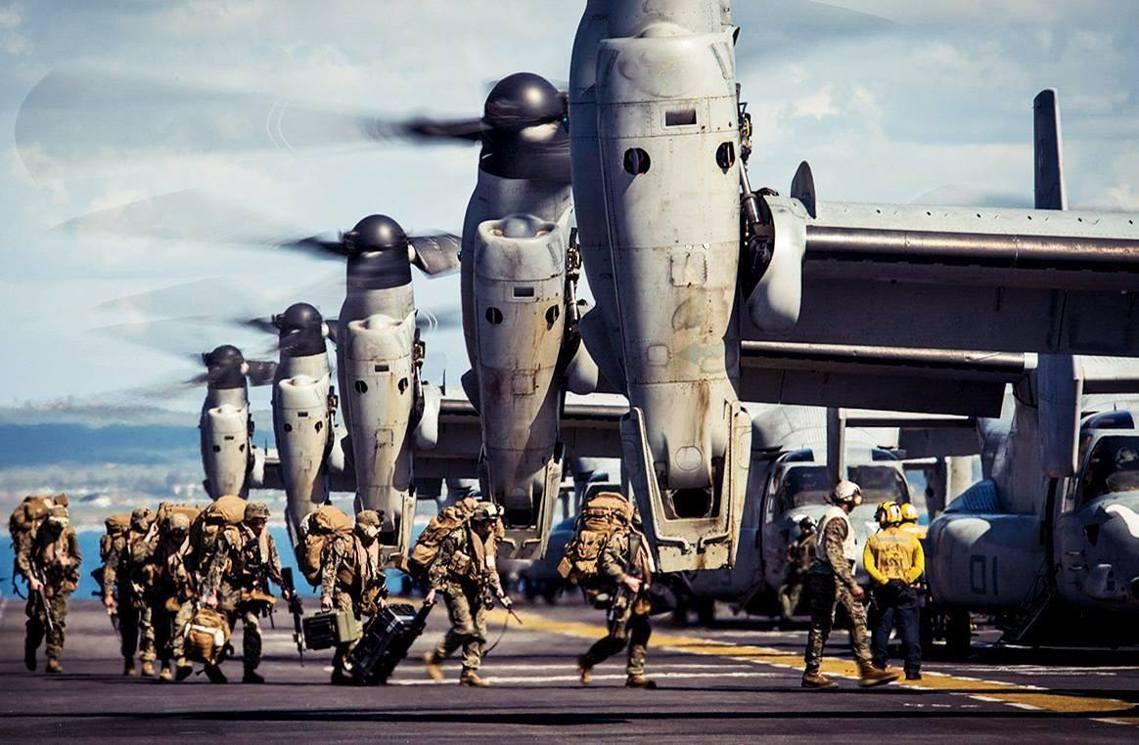 「如果在人口密集區域的上空發生意外,責任誰來扛?」圖為MV-22魚鷹式。 圖/美...