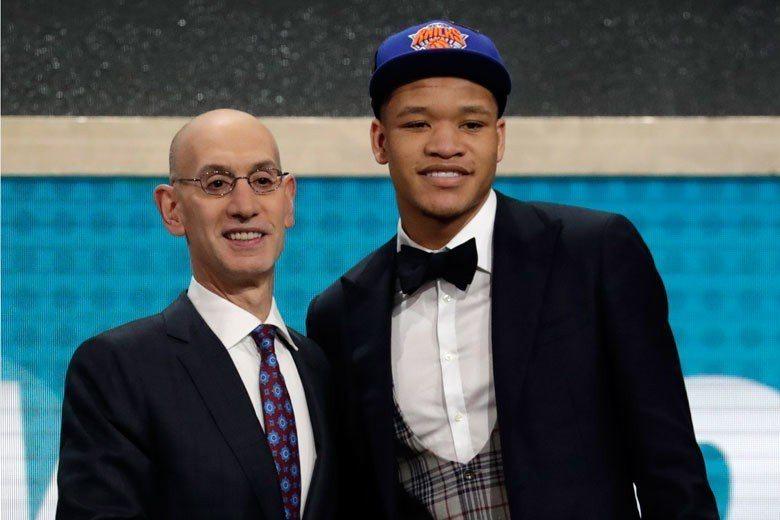 諾克斯在今年NBA選秀第一輪第9順位被紐約尼克選中。 歐新社資料照片
