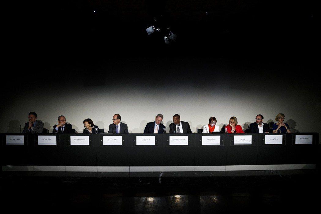 Google Spain SL案是討論被遺忘權都會被提及的案子。圖為2014年9月Google高層召開會議討論被遺忘權。 圖/美聯社