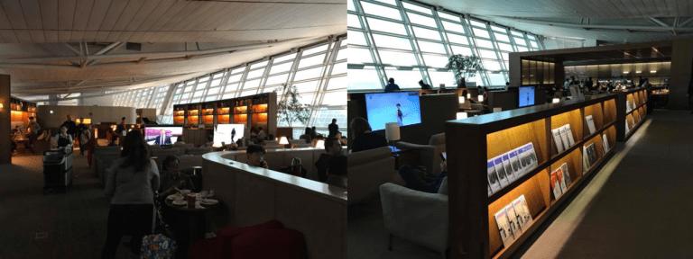 韓亞航空貴賓室的整體設施,是以大圖書館的主題為主,使用貴賓室的人也不少 圖文來自...