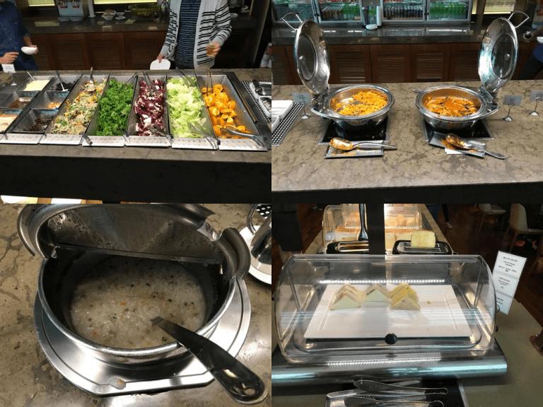 自助沙拉吧台與熱食選項,就只有這麼多 圖文來自於:TripPlus