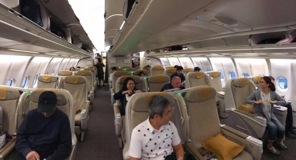韓亞航空亞洲區域航線商務艙的設置 圖文來自於:TripPlus