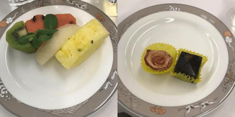 新鮮水果,和韓式的傳統糕點 圖文來自於:TripPlus